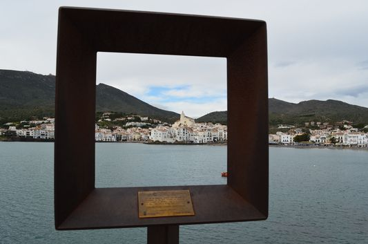 Santa Maria church and white town of Cadaques