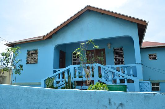 a villa with a garden on Nevis