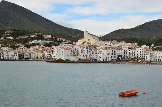view of the white architecture of Cadaques