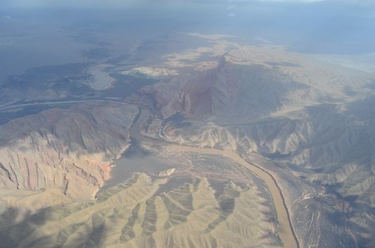 Colorado river carving the Grand Canyon
