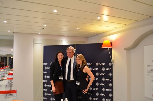 Kelley, Mr. Vago and I on board MSC Preziosa cruise