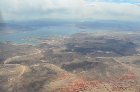 Lake Mead we saw on the way to Grand Canyon
