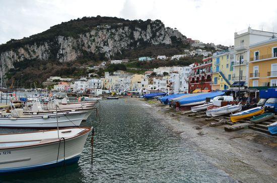 Marina Grande port on Capri island