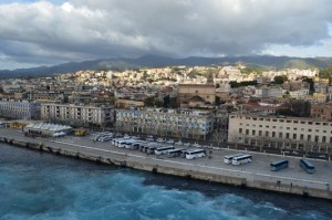 Messina town from the MSC Preziosa