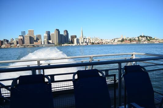 San Francisco from SF BayLink ferry