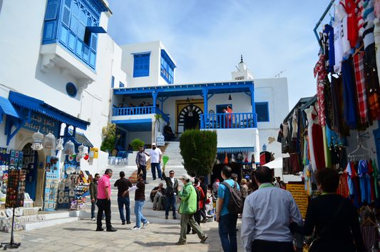 Sidi Bou Said packed with tourists and locals