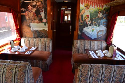 beautiful paintings on Napa Valley Wine Train