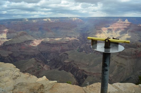 fascinating Grand Canyon views from Yavapai point