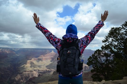 feeling alive in the Grand Canyon South Rim