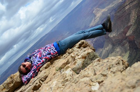living the moment in Bright Angel Grand Canyon