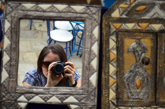 love taking photos of the mirrors in Sidi Bou Said