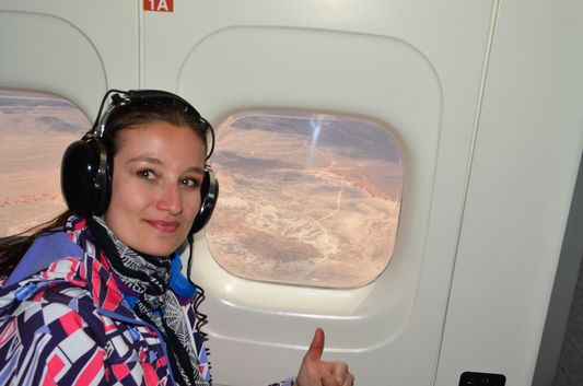 on Vision Airlines Dornier flying to Grand Canyon