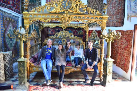 on the King's bed in Medina