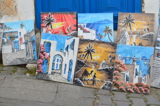 paintings for sell in Sidi Bou Said