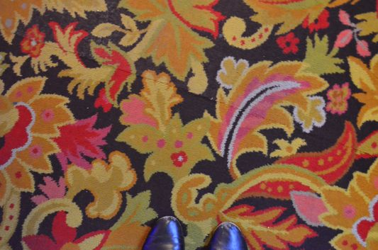 red pattern carpets in Las Vegas casinos