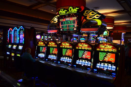 slot machines in the Vegas casinos