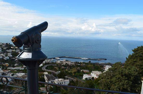 the view of Marina Grande port in Capri