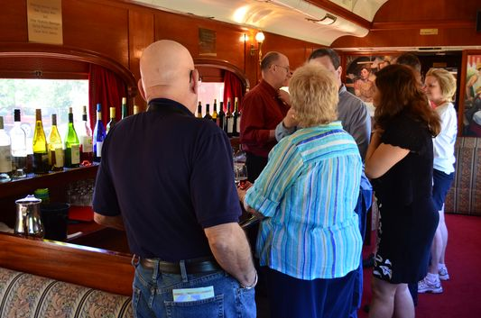 wine tasting on Napa Valley Wine Train