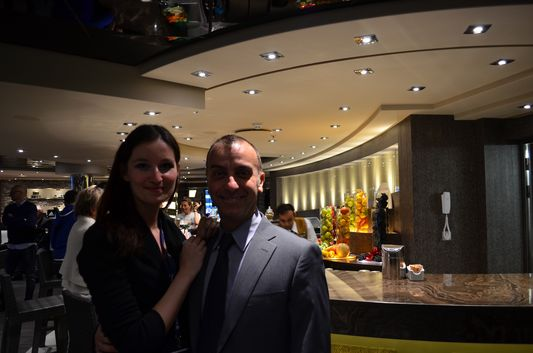 with Mr. Roberto Ladisi the MSC Aurea Spa supervisor
