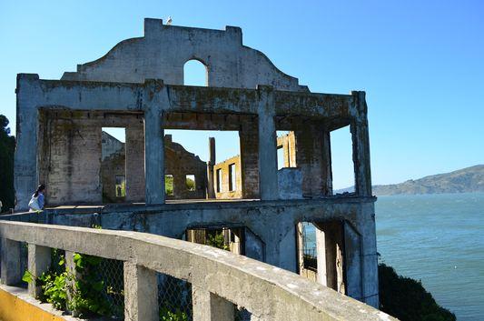 Alcatraz prison ruins - Penitentiary Social Hall
