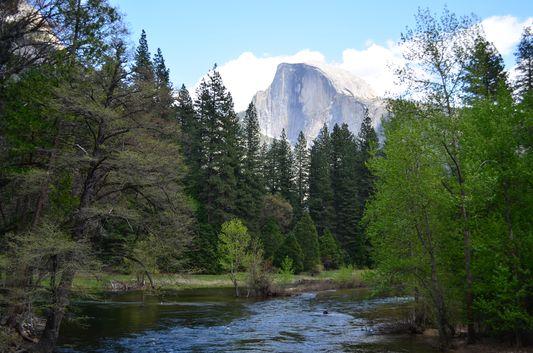 Half Dome granite rock Yosemite