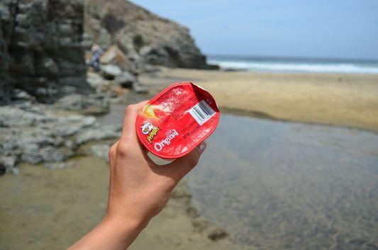 Pringles at Las Palmas beach