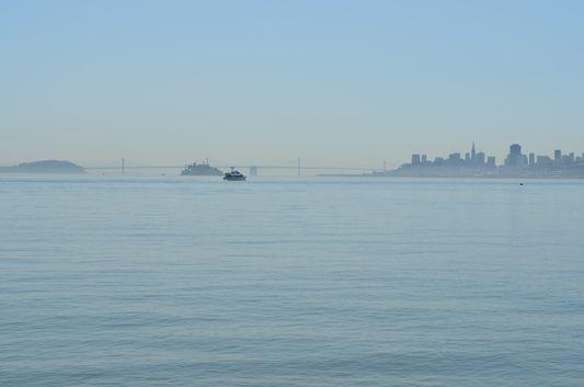 San Francisco and Bay Bridge from Sausalito