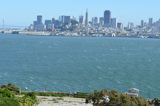 San Francisco from Alcatraz island