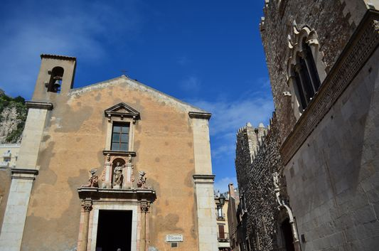 Santa Caterina and Palazzo Corvaia in Taormina