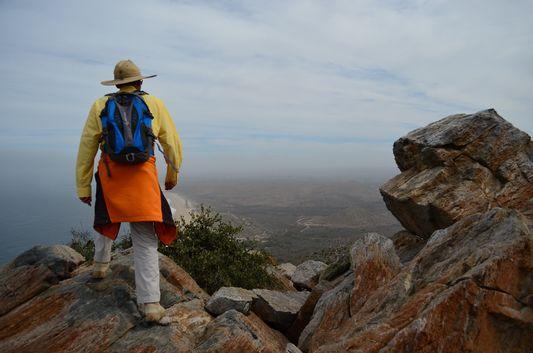 Sergio walking on top of the rocks