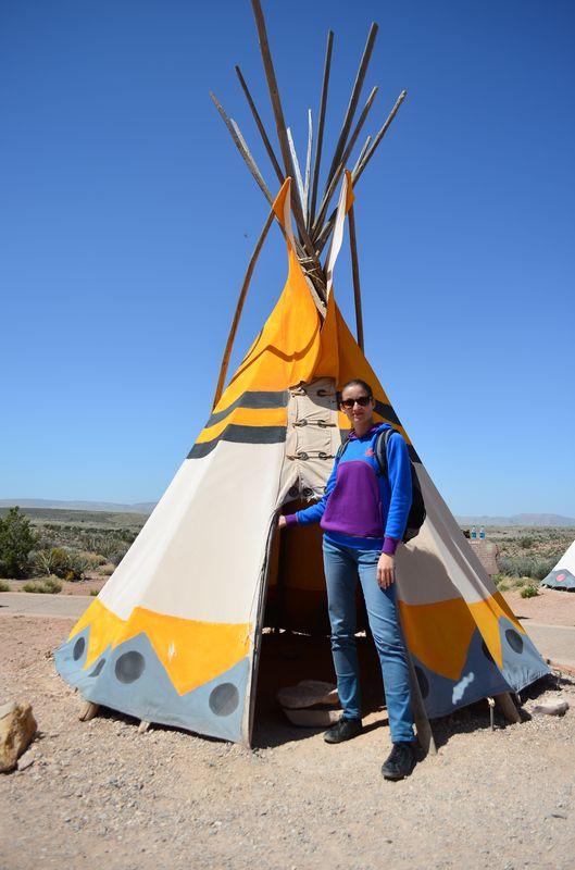 a Tipi house of nomadic Plain Native Americans at Grand Canyon