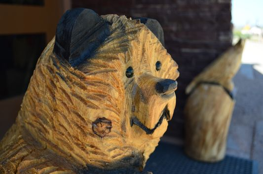 a bear head souvenir at Creations by Native Hands