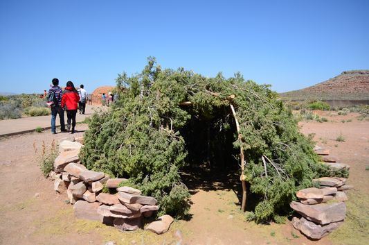 a different shape of a Hualapai dwelling