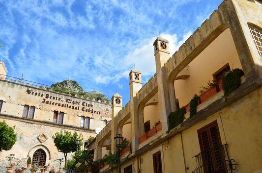 ancient buildings at Corso Umberto in Taormina