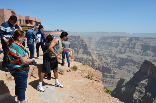 arrived to Grand Canyon West Rim Eagle point