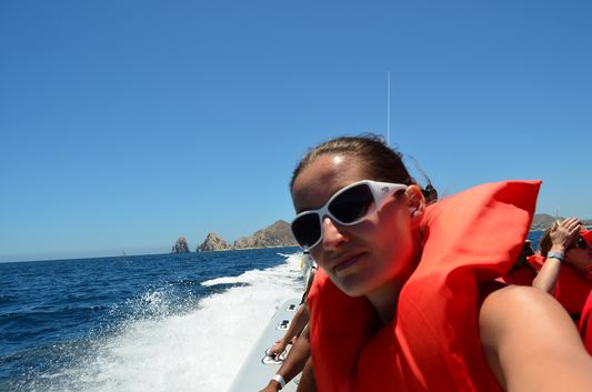 boat ride to Chileno Bay yeah