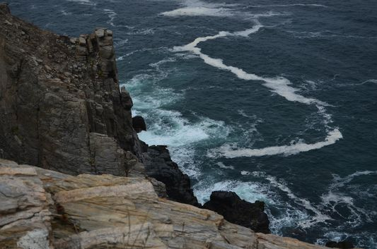 cliffs with dramatic waves