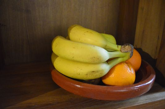 fresh fruit welcome present at Casa Gracia