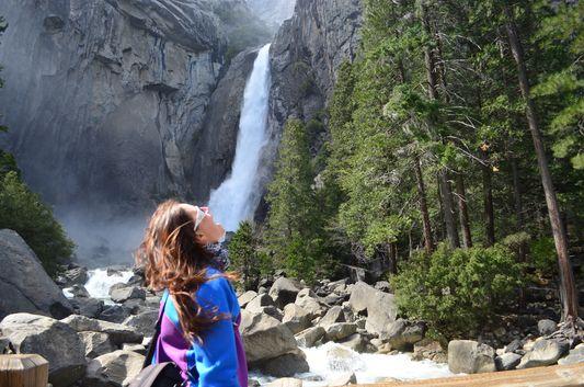 got thirsty at Yosemite Falls