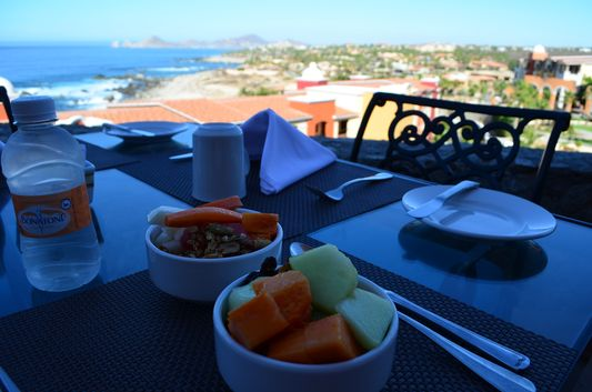 healthy breakfast at Las Marias restaurant
