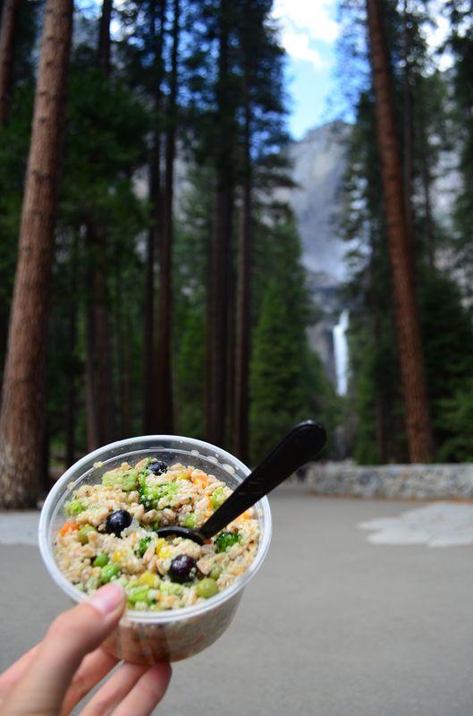 healthy lunch at Yosemite Falls
