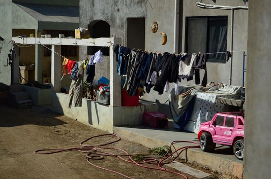 how the poorer locals live in Todos Santos