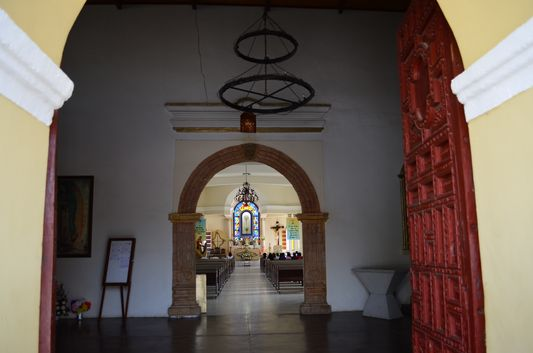 inside the church in Todos Santos