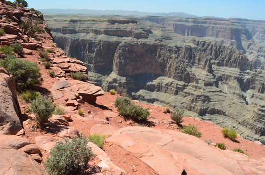 less crowded side of the Highpoint Hike Grand Canyon West Rim