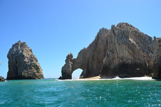 my first view of Los Arcos in Cabo