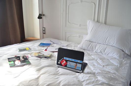 my travel blogging office