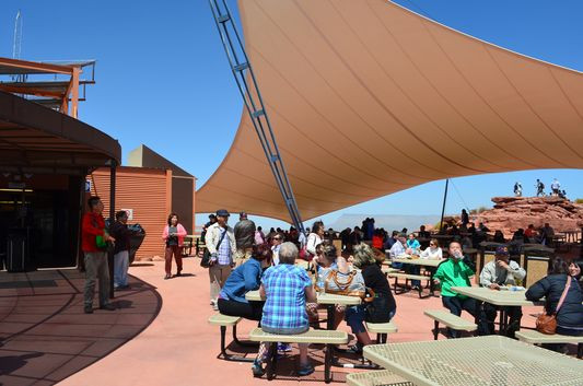 open-air lunch offer at Guano Point West Rim