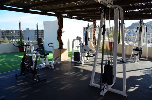 open-air sky gym in Marina Fiesta