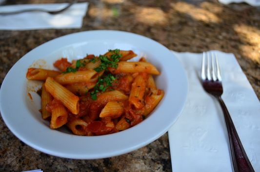 penne with fresh tomato sauce at Trattoria Pinocchio