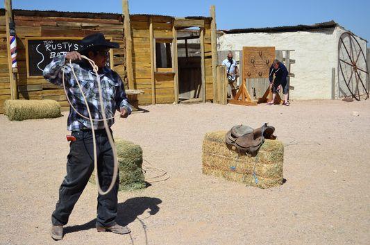 playing cowboys at Hualapai Ranch Grand Canyon West Rim